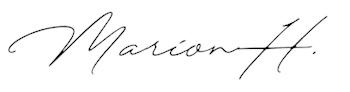 Signatur Marion H.